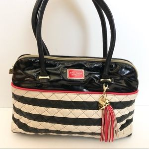 Betsey Johnson striped dome shoulder bag